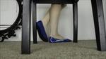 M - Blue Ballet Flats Underchair Shoeplay .wmv