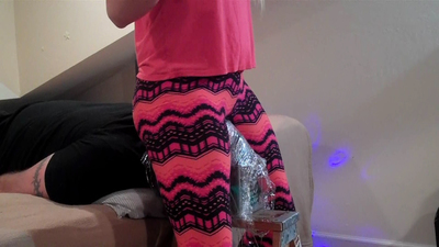 Cling Wrap Stool PART 1 - Leggings Only