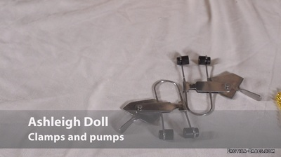 Ashleigh Doll pregnant clamps and pumps