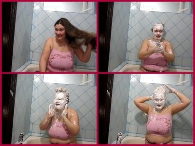 foam on the hair