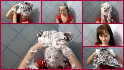 foam on the hair 2