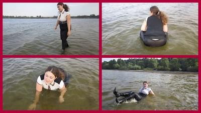 swimming in river 4