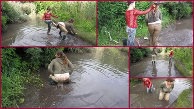bathing in the mud with his girlfriend 2