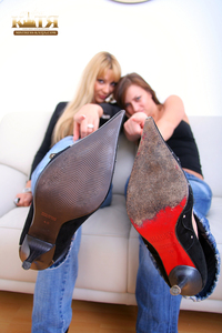 03-001 - Lick our High Heels & smell them (Picture Set)