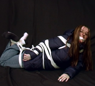 One anorak and a thousand ropes - yet escape the hogtie!