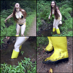 Puddle in the woods are made for gumboots!