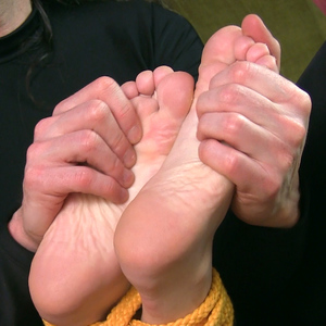 Tied up mini soles relaxation massage
