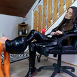 My Slave Gets To Lick My Pvc Boots