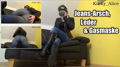 Jeans-Ass, Leather and Gasmask