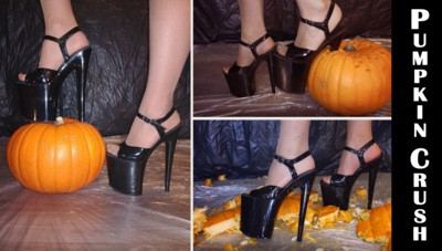 Pumpkin crush with pleaser high heels