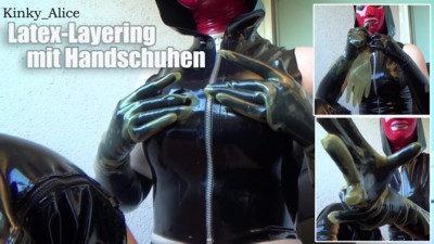 Latex layering with gloves