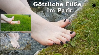 Divine feet in the grounds
