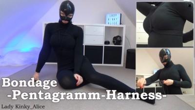 Bondage Pentagramm-Harness