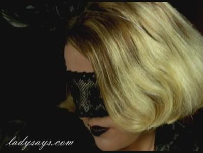 Smoking in Black Mask
