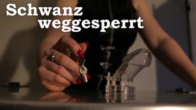 Schwanz weggesperrt - Cock locked away