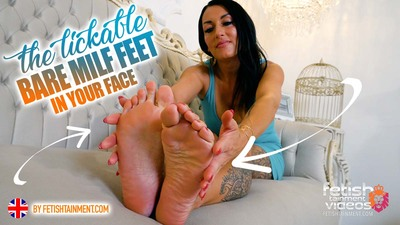 My sexy bare feet on your face