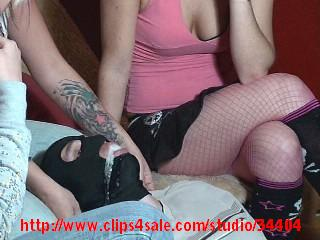 Godess Angie FAITH,JESSE and MISTRESS VEE spitting party humiliation full
