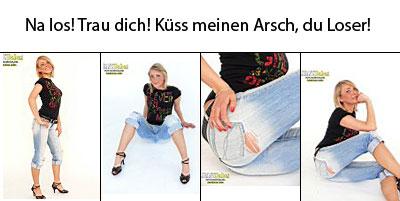 JeansBabe Luisa macht dich mit ihrem geilen Jeansarsch so richtig an!