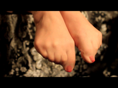 Wet Pantyhosed Feet