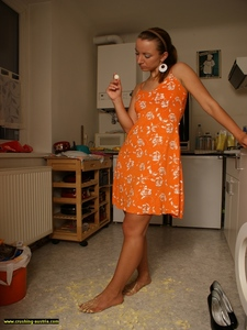Bare Foot Food Crushing 24