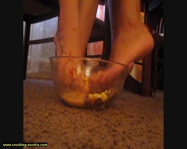 Bare Foot Food Crushing 38
