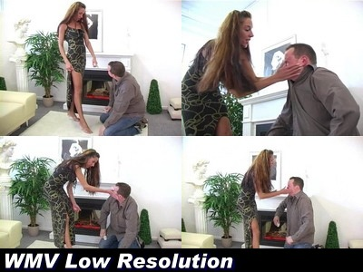 Shoe Cleaning - Mistress Vivien B (WMV Low Resolution)