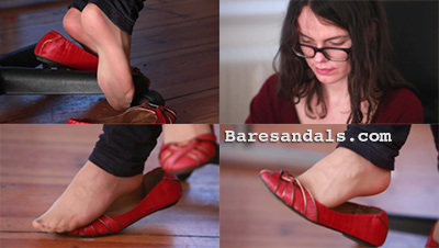 Silvia in stockings and red ballerina shoes - Upgrade 4093