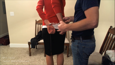 Secretary Arrested and Shackled