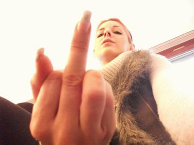 I know you love my middle finger ...!