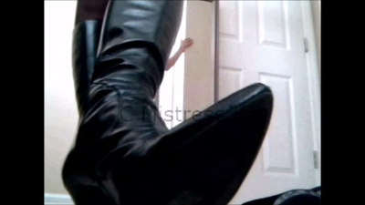 Leather boots Torture POV