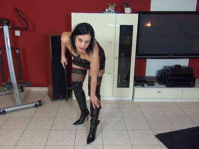 Lick my boots, slave!