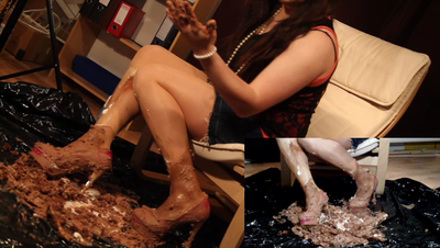 Cake crushed with nylons and heels