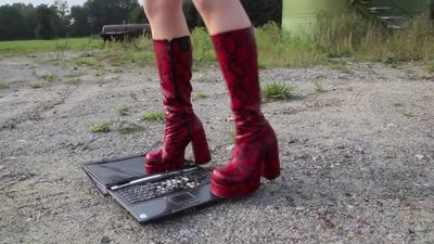 Laptopcrush mit Buffalo T-24400 Stiefeln