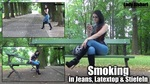 Smoking In Jeans,latextop And Boots